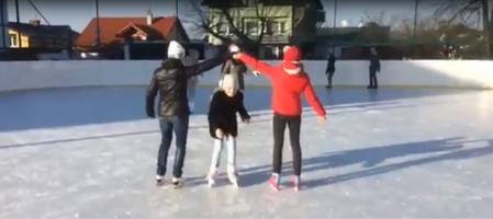 Lekcja na lodowisku